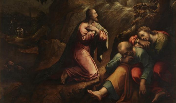 Jesus ora en el Huerto