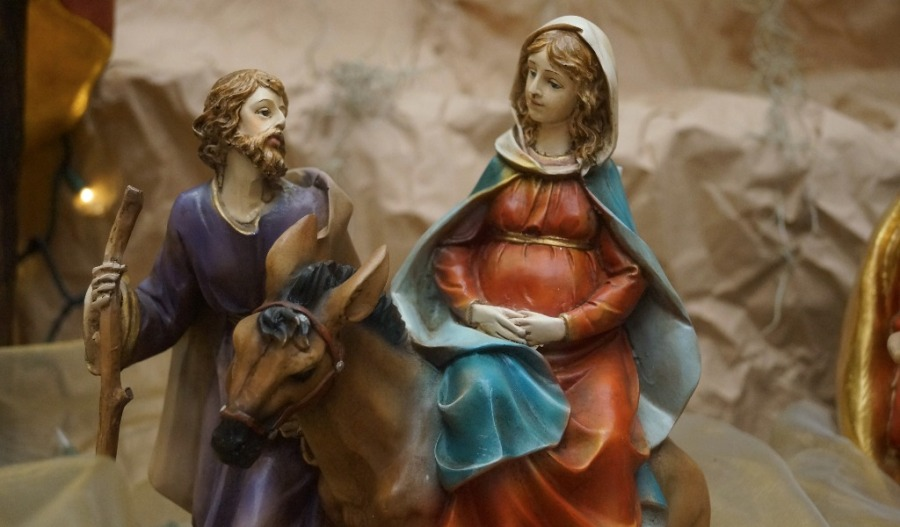 San José y la Virgen María