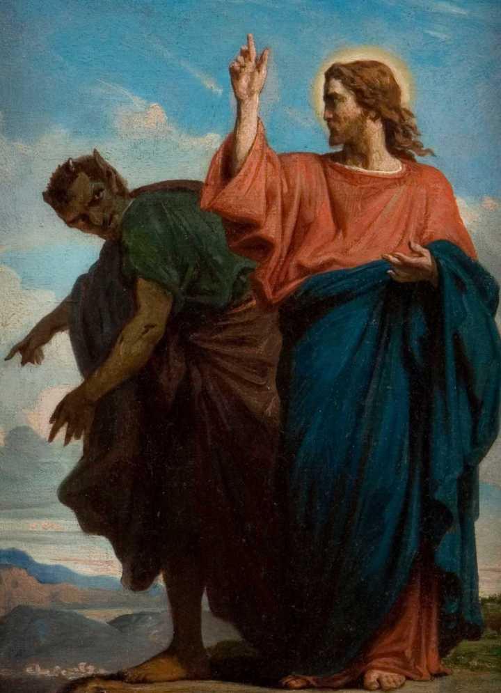 Tentación de Jesús por el demonio (Félix Joseph Barrias)