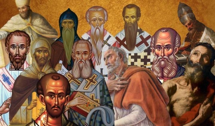 Padres de la Iglesia en mosaico