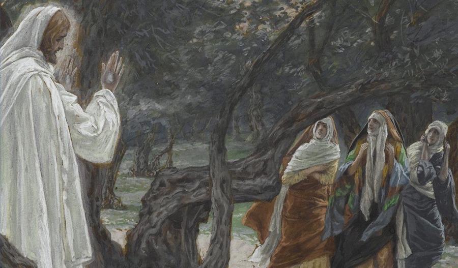 Jesús se aparece a las mujeres, J. Tissot (Museo Brooklyn)