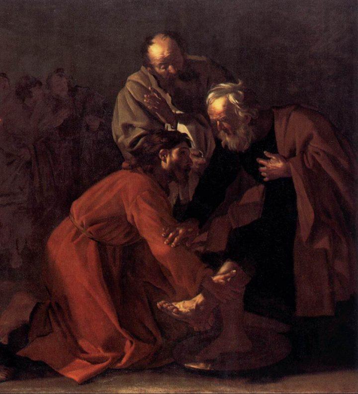 dirck-van-baburen-Cristo lavando los pies de los apóstoles