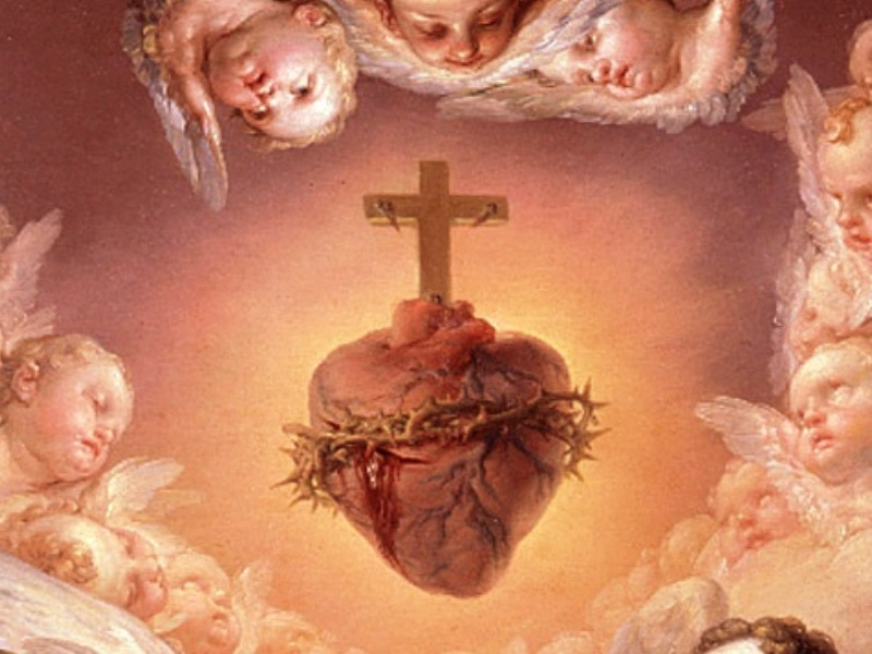 angeles-adorando-corazon-jesus-detalle